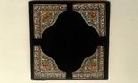 Старинные серебряные углы для иконы.Перегородчатая эмаль., фото №4
