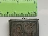 Миниатюрная икона. Серебро, фото №13