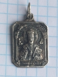 Иконка Св. Николай Чудотворец 925 с тризубцем, фото №2