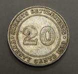 20 центов, 1910 г Стреитс Сеттлмент, фото №2