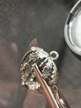 Кулон подвеска белка серебро 835 винтаж, фото №4
