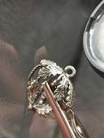 Кулон подвеска белка серебро 835 винтаж, фото №5