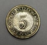 5 центов, 1926 г Стреитс Сеттлмент, фото №2