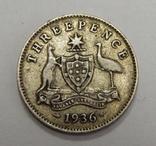 3 пенса, 1936 г Австралия, фото №2