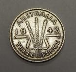 3 пенса, 1943 г Австралия, фото №2