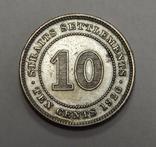 10 центов, 1926 г Стреитс Сеттлмент, фото №2