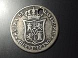 Испания 1865 серебро 40 сентимо, фото №3