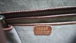 Сумочка винтажная коллекционная Lopez из кожи аллигатора Аргентина, фото №4