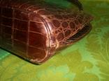 Сумочка винтажная коллекционная Lopez из кожи аллигатора Аргентина, фото №8