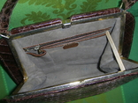 Сумочка винтажная коллекционная Lopez из кожи аллигатора Аргентина, фото №11