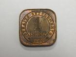 1 цент, 1920 г Стреитс Сеттлмент, фото №2