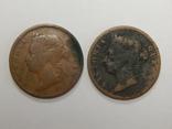 2 монеты по 1 центу, Стреитс Сеттлмент, фото №3