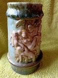 Кружка пивная львовская керамика ЛКСФ, авторская - Пінас, 1983, фото №3