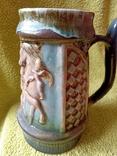 Кружка пивная львовская керамика ЛКСФ, авторская - Пінас, 1983, фото №5