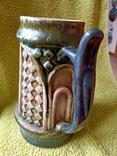 Кружка пивная львовская керамика ЛКСФ, авторская - Пінас, 1983, фото №6