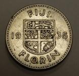 1 флорин, 1935 г Фиджи, фото №2