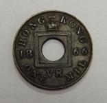 1 мил, 1866 г Гон-Конг, фото №2