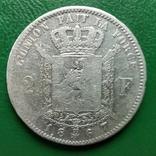 2 франка 1867г.Бельгия, фото №2
