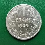 1 франк 1909г.Бельгия DER, фото №3