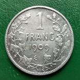1 франк 1909г.БельгияDES, фото №2