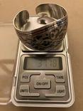 Браслет Кубачи серебро 37.7 гр, фото №3