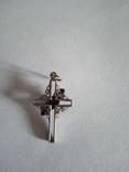 Крестик с зелёным камнем, фото №5
