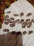 Сорочка полотняна вишета хрестиком, фото №3
