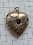 Женский кулон с камнем серебро 875, фото №2