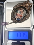 Медальон серебро филигрань 19 век, фото №5