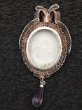 Медальон серебро филигрань 19 век, фото №11