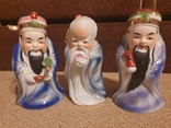 Фарфоровые статуэтки Три мудреца Сан-Синь, фото №2