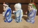 Фарфоровые статуэтки Три мудреца Сан-Синь, фото №4