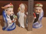 Фарфоровые статуэтки Три мудреца Сан-Синь, фото №6