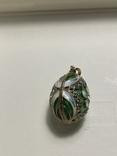 Кулон срібний з позолотою. Імітація яйця Фаберже., фото №3