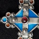Эмалевый крест с гранатовым камнем, фото №3