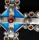 Эмалевый крест с гранатовым камнем, фото №4