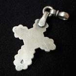Эмалевый крест с гранатовым камнем, фото №6