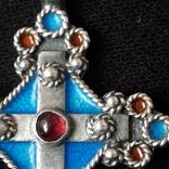 Эмалевый крест с гранатовым камнем, фото №8