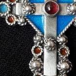 Эмалевый крест с гранатовым камнем, фото №9