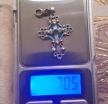 Эмалевый крест с гранатовым камнем, фото №13