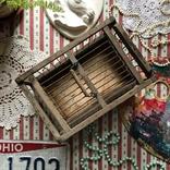 Клетка переноска дерево деревянная ретро винтаж декор, фото №4