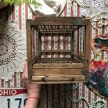Клетка переноска дерево деревянная ретро винтаж декор, фото №6