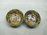 2 декоративные тарелки из фарфора. Диаметр 47мм, фото №2