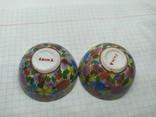 2 декоративные тарелки из фарфора. Диаметр 47мм, фото №5