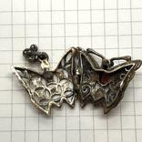 Подвес мотылёк бабочка серебро с камнем, фото №6