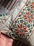 Подушка декоративная вышивка бахрома пух перо, фото №3