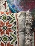Подушка декоративная вышивка бахрома пух перо, фото №5