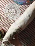 Подушка декоративная вышивка бахрома пух перо, фото №11