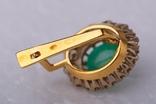 Золотой набор  750 пробы с натуральными бриллиантами и изумрудами, фото №10