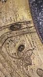 Икона Господь Вседержитель. Оклад серебро, позолота, эмали, фото №7